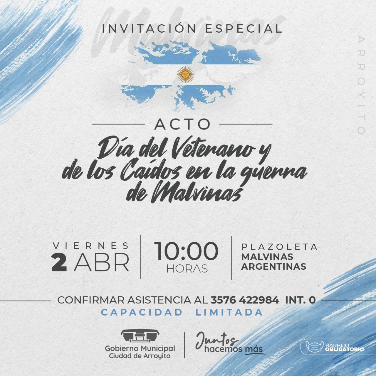 Malvinas Invitación en Arroyito