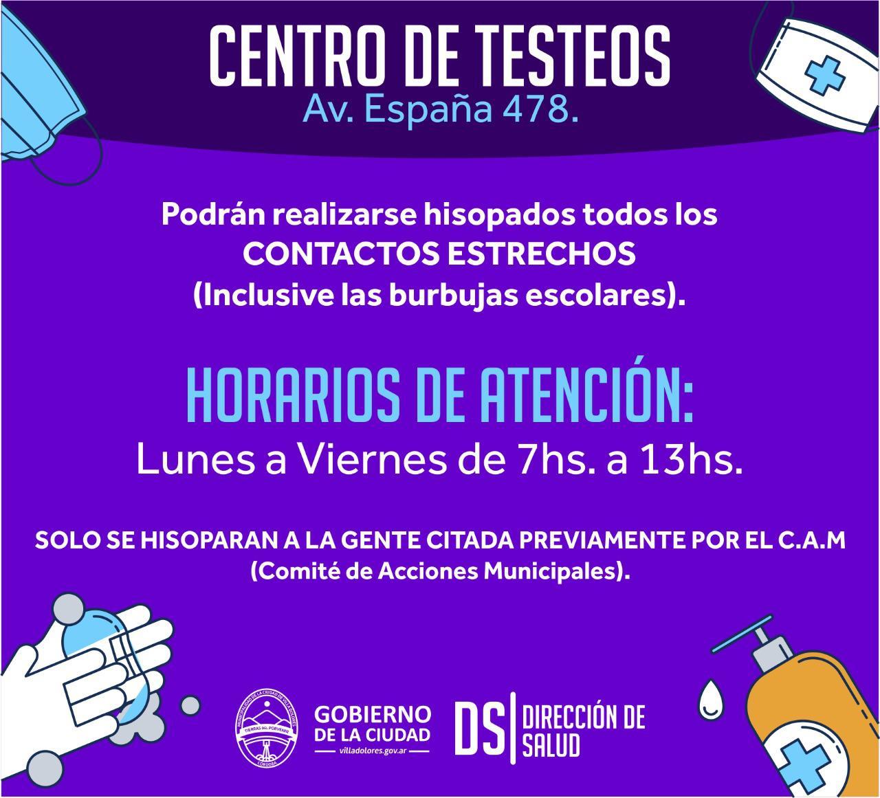 Centro de Testeos Villa Dolores
